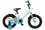 """Детский велосипед  NOVATRACK 14"""", VALIANT, белый, полная защита цепи, тормоз нож, короткие крылья, нет багажн"""