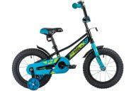 """Детский велосипед  NOVATRACK 14"""", VALIANT, черный, полная защита цепи, тормоз нож, короткие крылья, нет багаж"""
